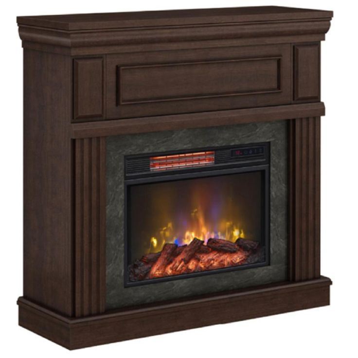 Home Decorators Collection Grantley 40 in. Freestanding Electric Fireplace in Midnight Cherry-112326 - ideas -