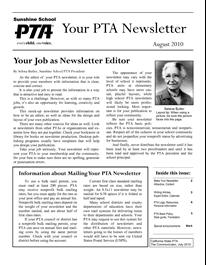 pta newsletter templates document sample pto pinterest