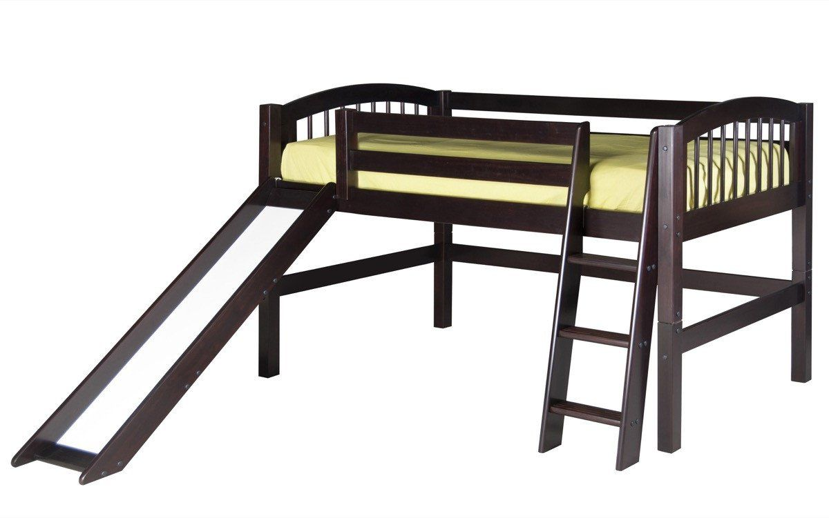Loft bed with slide weight limit  Camaflexi Low Loft Bed with Slide  Arch Spindle Headboard