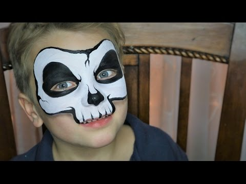 (32) Easy Skull Face Painting / Makeup YouTube Face