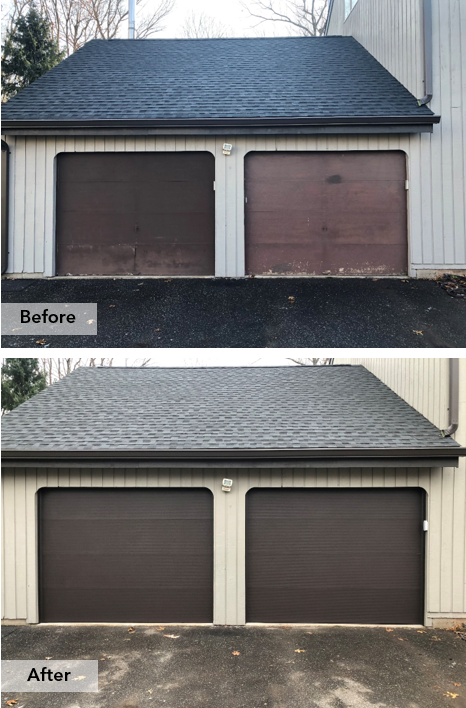 Upgraded To Our Microgroove Thermacore Garage Door To Make All The Neighbors Jealous Use Our Doorview App To See H Garage Doors Garage Door Design Door Design