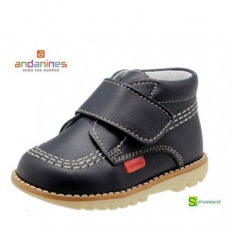 Bota Gatea Tipo Kicker Para Niño En Piel Marino De Andanines Calzado Niños Zapatos Para Niñas Botas De Piel