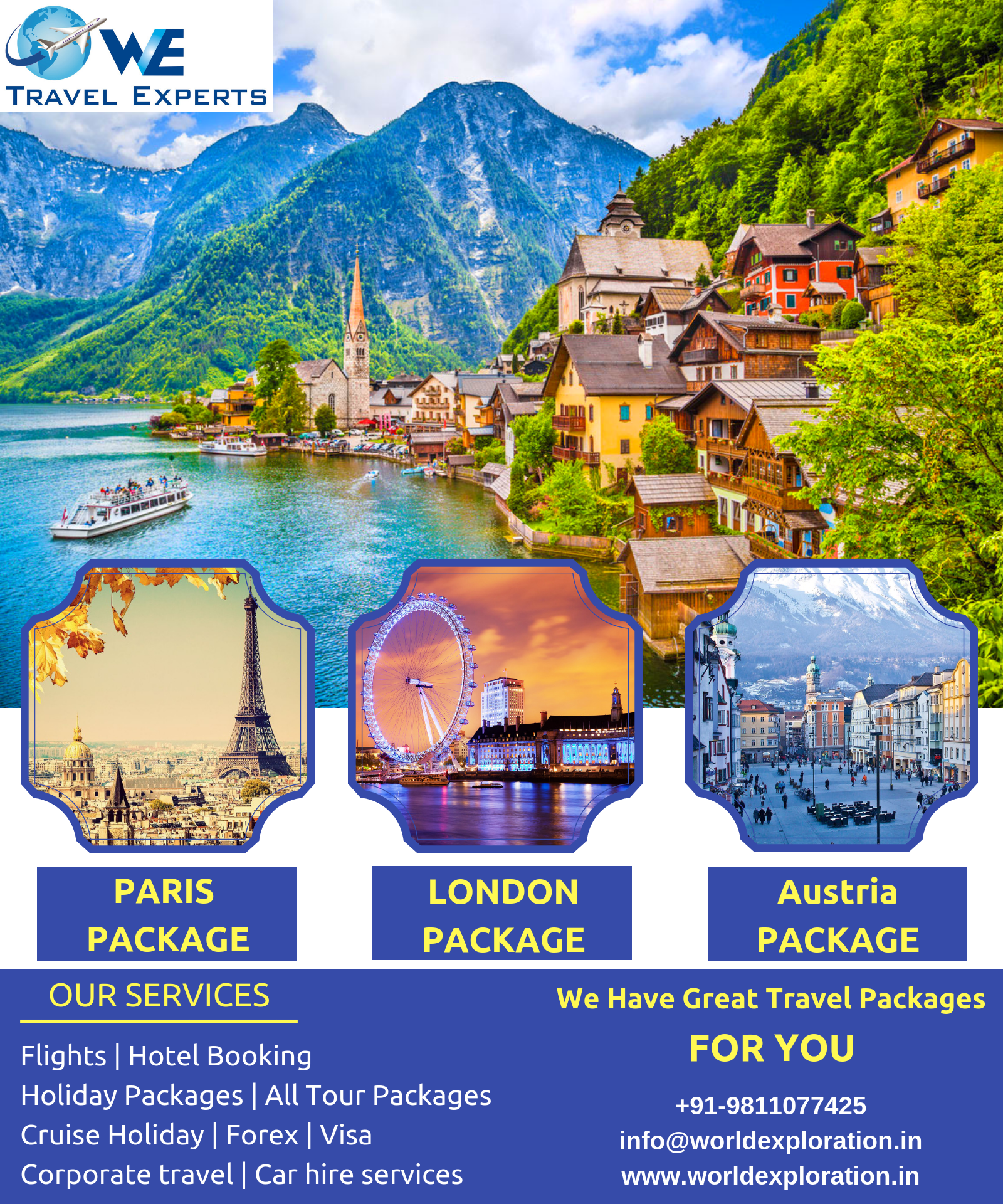 Book Domestic and International holidays  All types tour