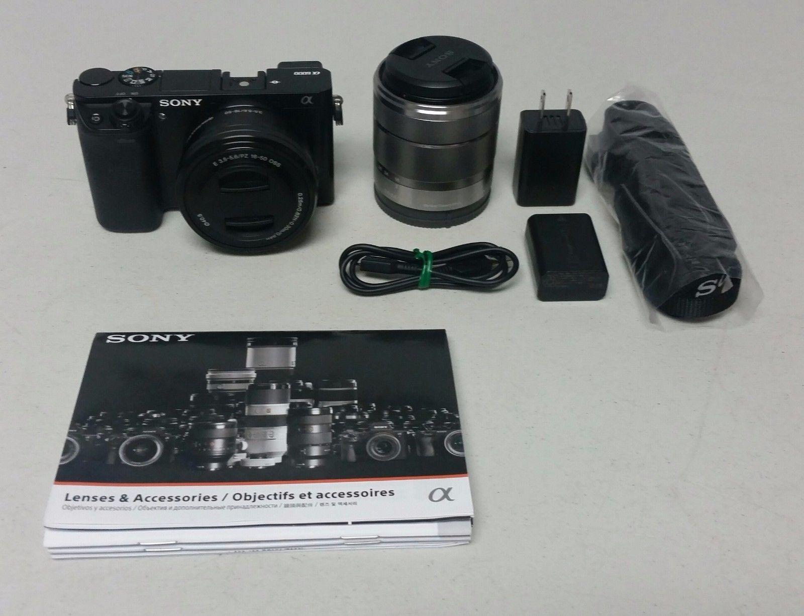 Sony A6000 Alpha 6000 Ilce 6000l Digital Camera 16 50mm Lens W Sony Sel1855 368 00 17 Bids End Date Thursday Aug 31 2 Digital Camera Accessories Sony