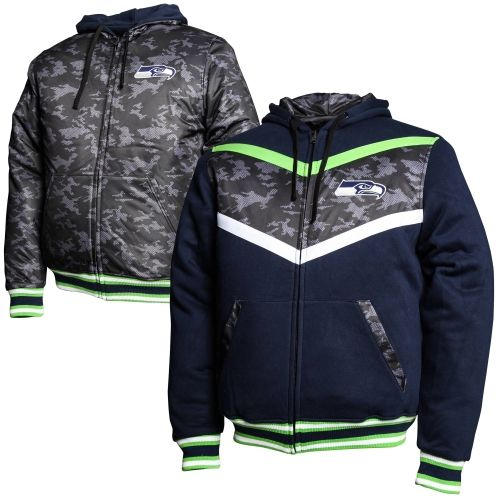 cfca1d22 NFL Seattle Seahawks Black Ops Reversible Full Zip Hoodie - College ...