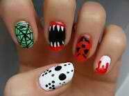 Cute horror nails!