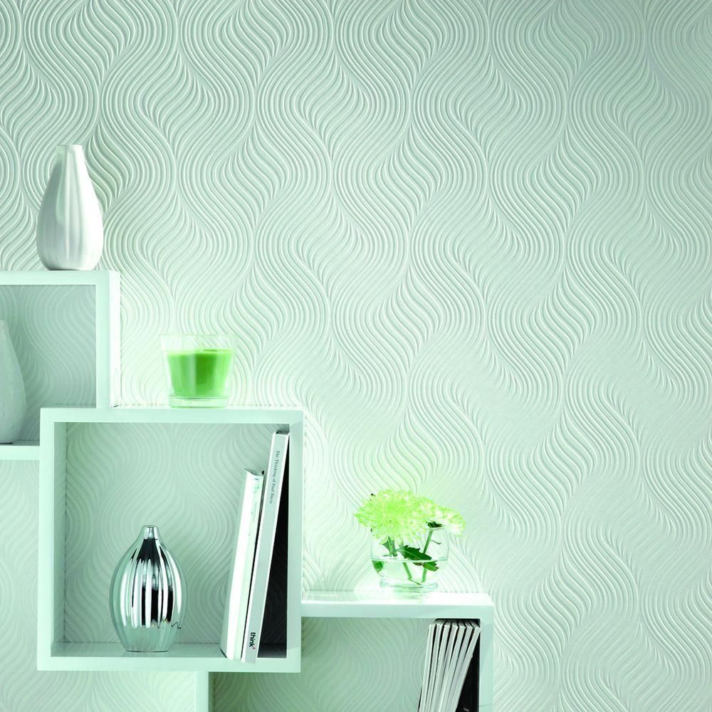 Graham & Brown Pure Paintable White Wallpaper 10014