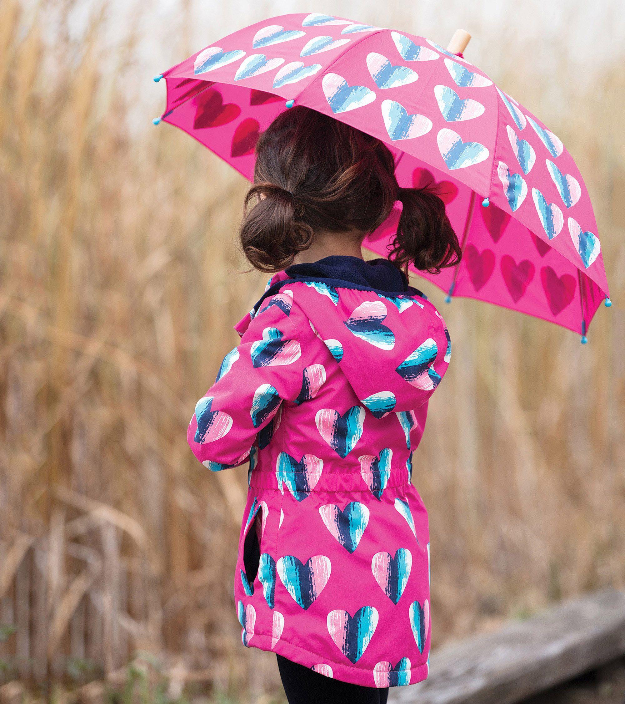 235448de1ef1 Hearts Microfiber Rain Jacket by Hatley + Matching Hearts Umbrella ...