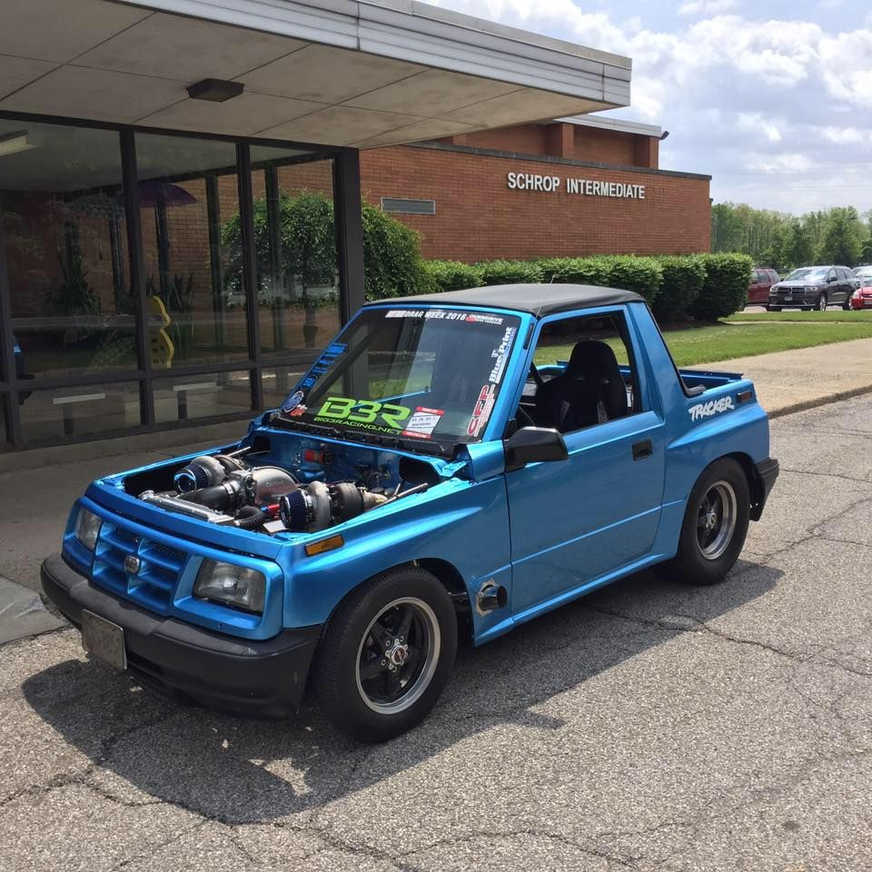 1995 geo tracker with a twin turbo chevy 454 v8 [ 960 x 960 Pixel ]