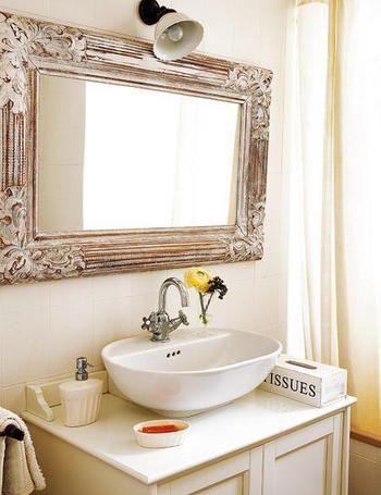 Ambientes de la casa | Espejo de madera, Madera tallada y El espejo