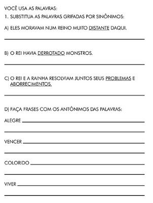 Atividades De Sinonimos E Antonimos Para Imprimir Mundinho Da