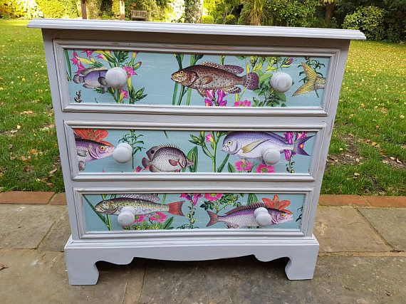 Painted Chest Of Drawers Small Chest Of Drawers Pine Painted Funky