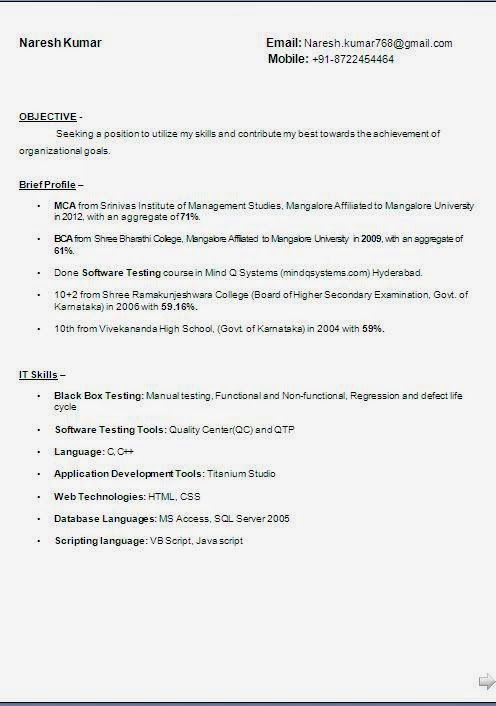 admin resume samples Sample Template Example ofExcellent Curriculum - resume goals