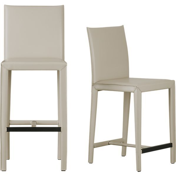 Island Seating Folio Oyster Leather Barstools In