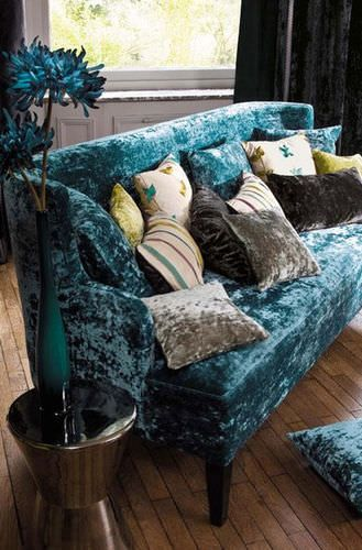 tissu velours d 39 ameublement lido casamance maritime. Black Bedroom Furniture Sets. Home Design Ideas