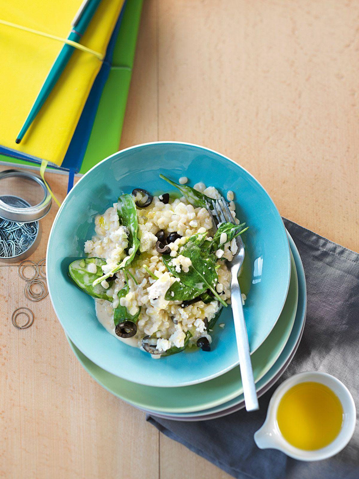 Salat zum pilzrisotto