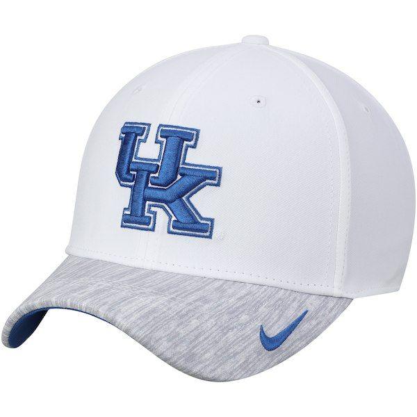 da65d1893cc Kentucky Wildcats Nike Sideline Coaches Performance Adjustable Hat - White   KentuckyWildcats