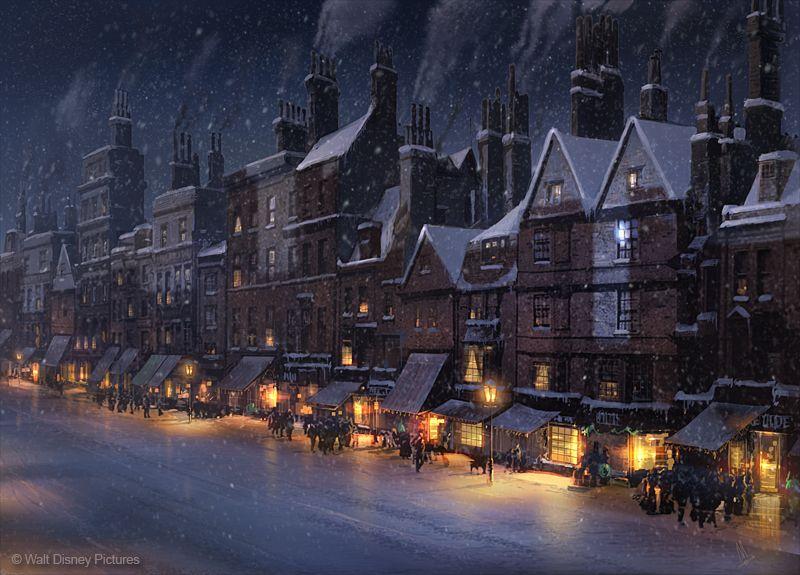 Christmas city street whitechapel street concept