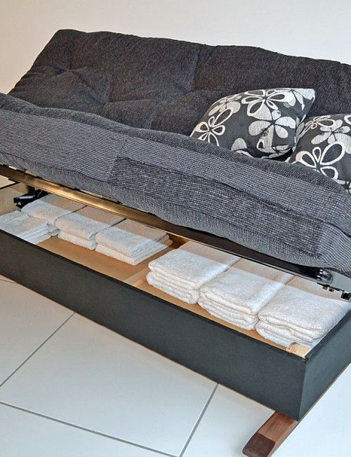 Futon Bed With Storage Underneath At Home Furniture Futons Sectional