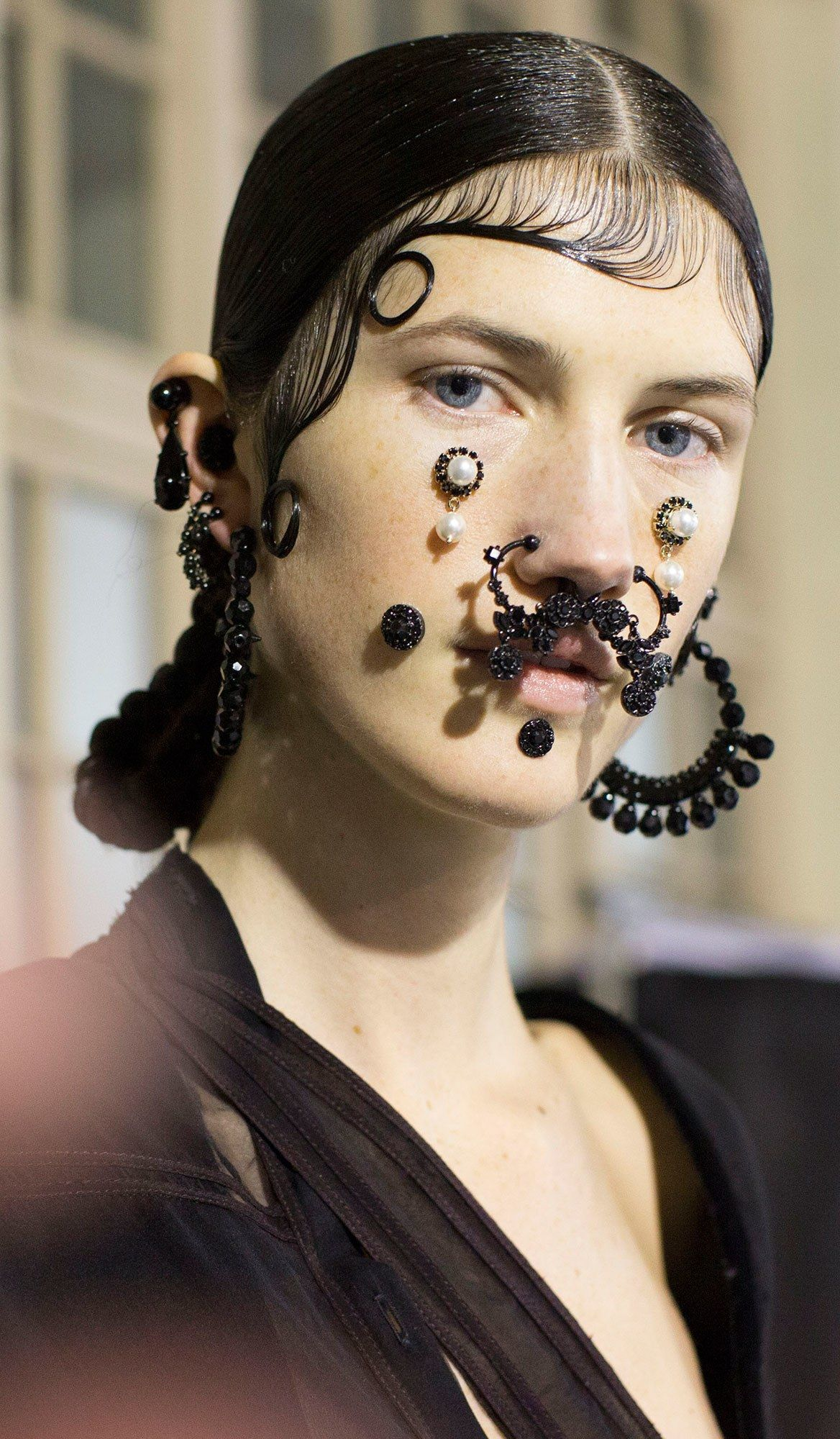 Girl nose piercing  Givenchyus Victorian Chola Girl Ganguand the FKA twigs Connection