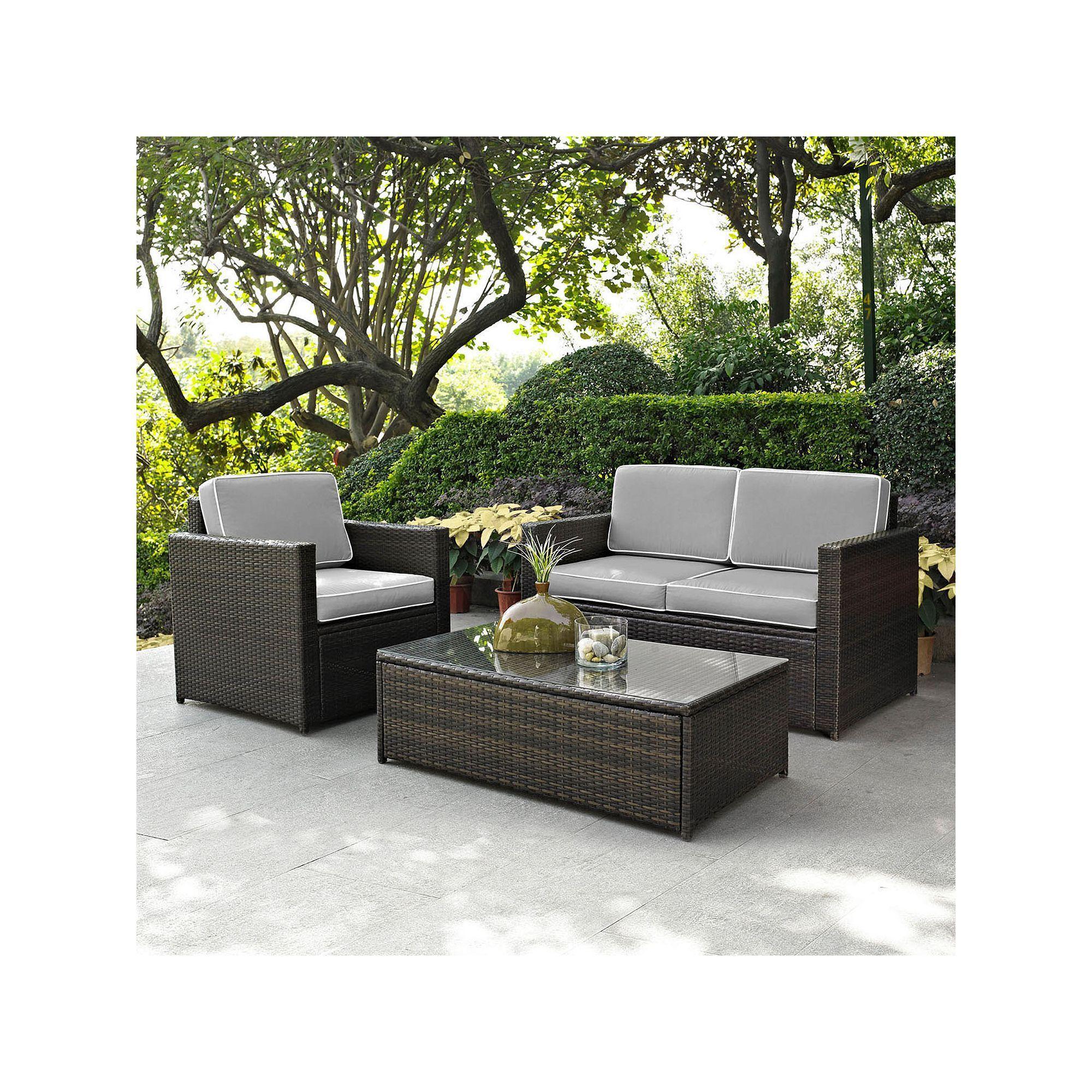 Crosley Furniture Outdoor Palm Harbor Patio Loveseat