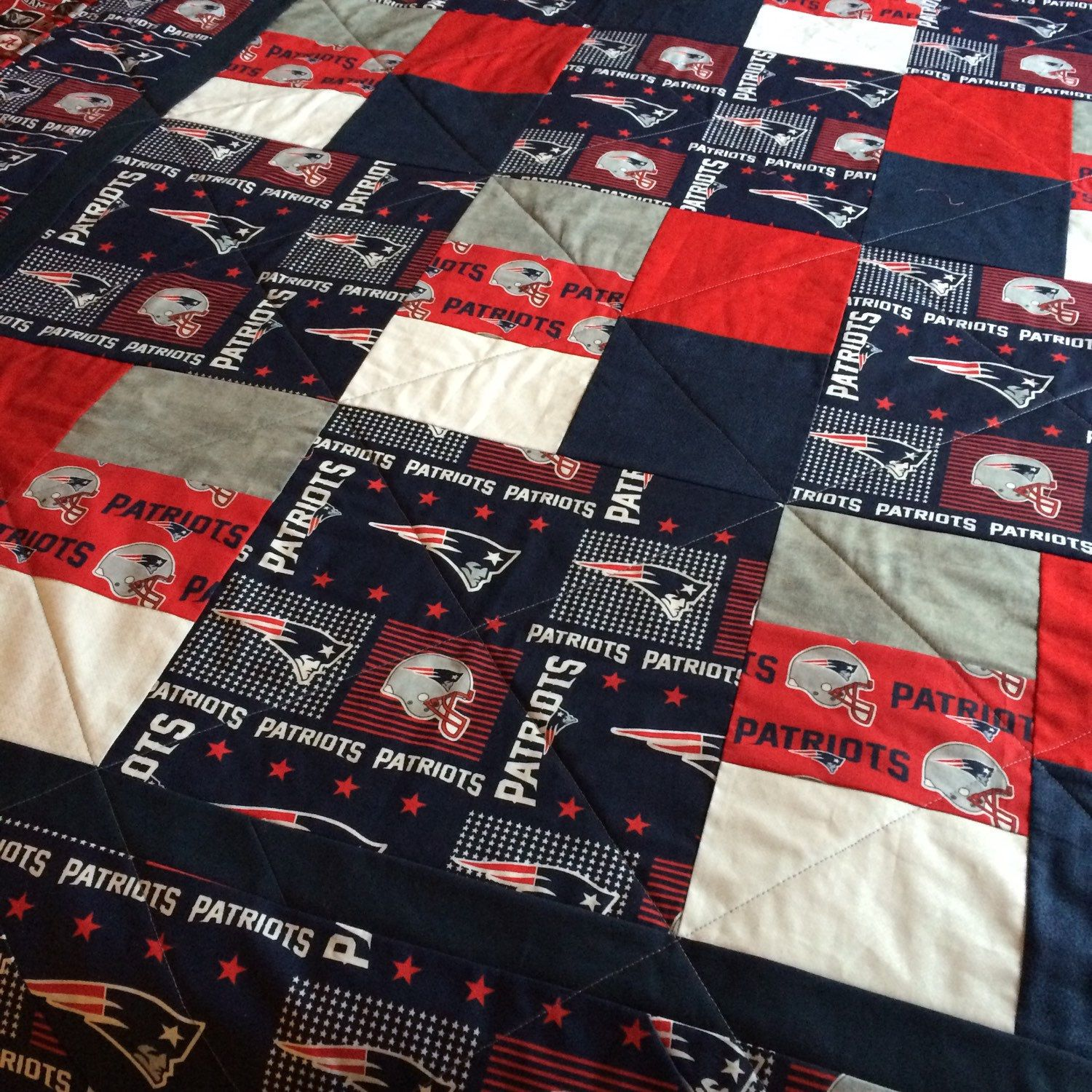New England Patriots Quilt by RosehillQuilting on Etsy