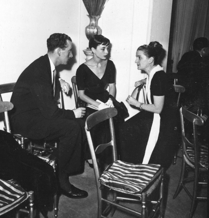 Audrey,James and fashion designer Zoe Fontana,1952