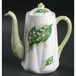 Shelley Dainty, Coffee Pot. Pattern: Lily Of The Valley