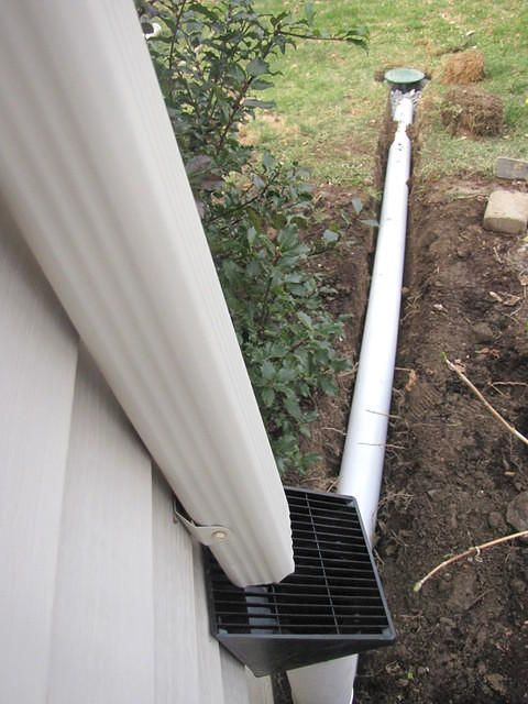Underground Downspouts Installations Ny Evolution Stamped Concrete Downspout Gutters Downspout Drainage