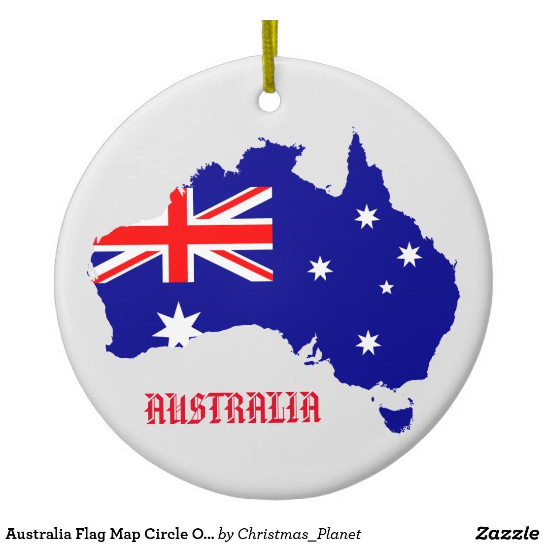 Australia Flag Map Circle Ornament | Zazzle.com ...