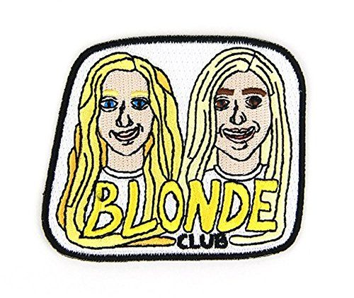 Blond Club Embroidered Sew or Iron-on Backing Patch Mokuyobi Threads