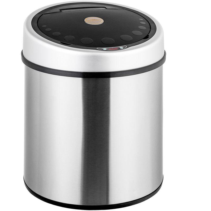 Poubelle De Cuisine Automatique 50l Design En Acier Noir 400827 Canning