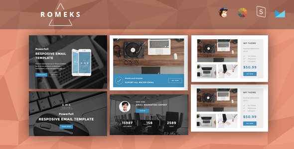 Romeks - Responsive Email + StampReady Builder | Responsive email