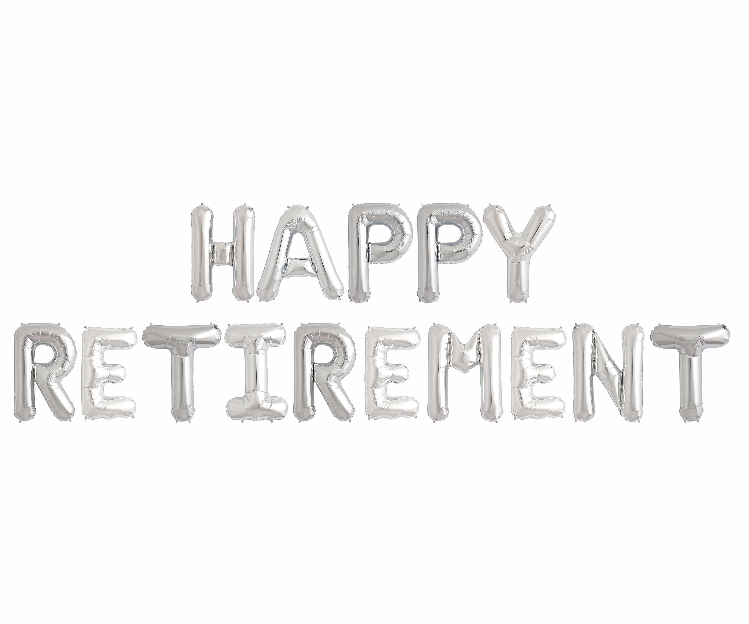 Happy Retirement Balloons  Party Decorations Jumbo Letter
