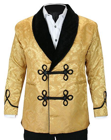 Black gold smoking jacket