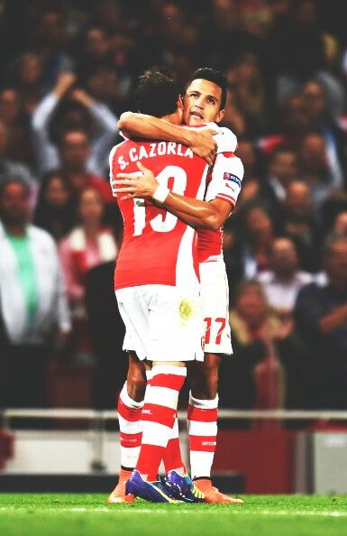 Santi and Sanchez happy with the win #Arsenal