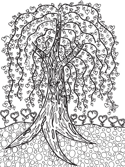 Tree FREE Printable Coloring Page Willow X