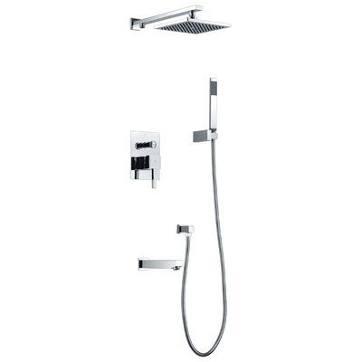 Anzzi Rain Shower System With Hand Shower And Tub Faucet Rain
