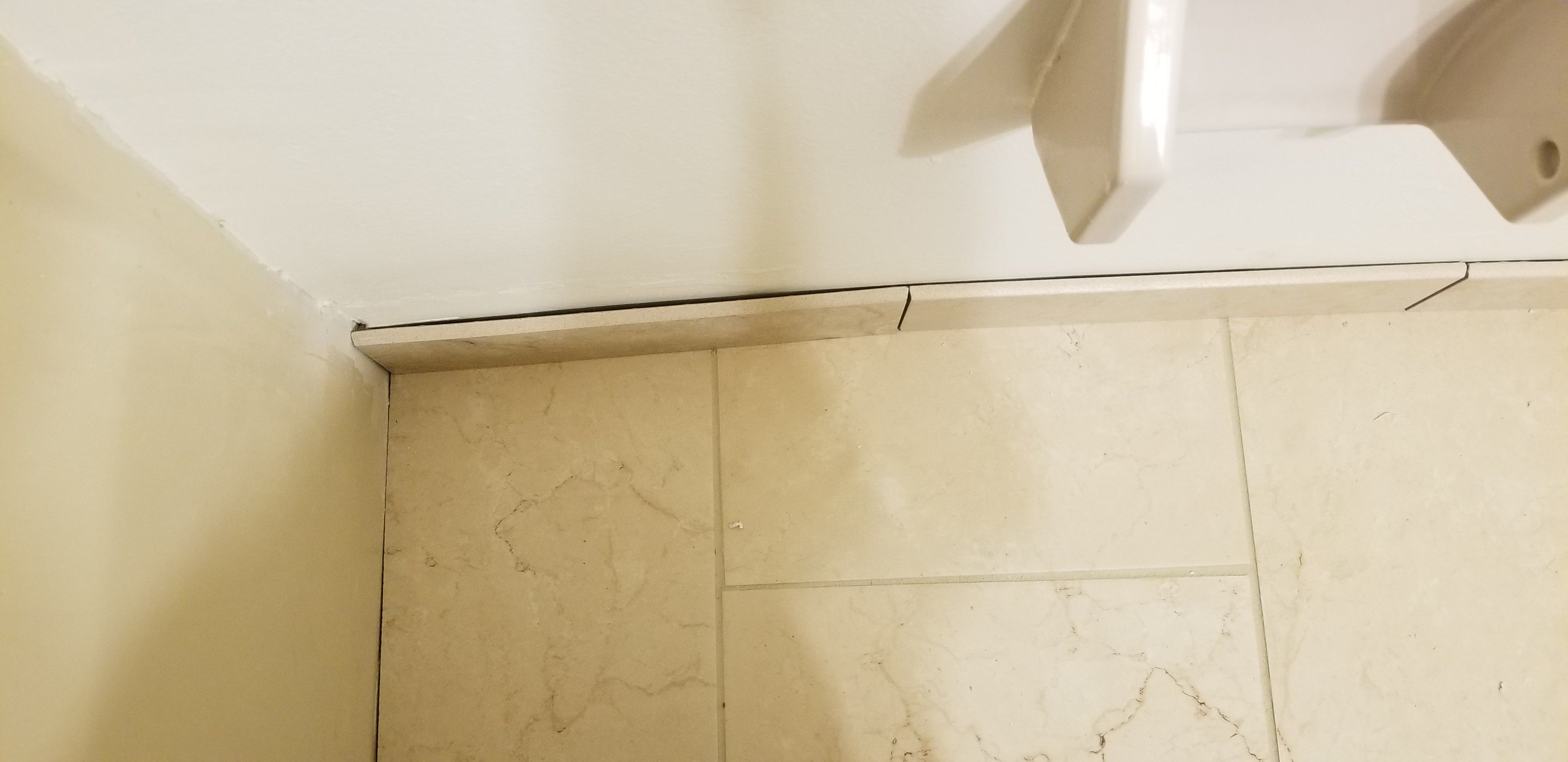 Trying To Put The Trim Tile In And As You Can See Wherebthe First