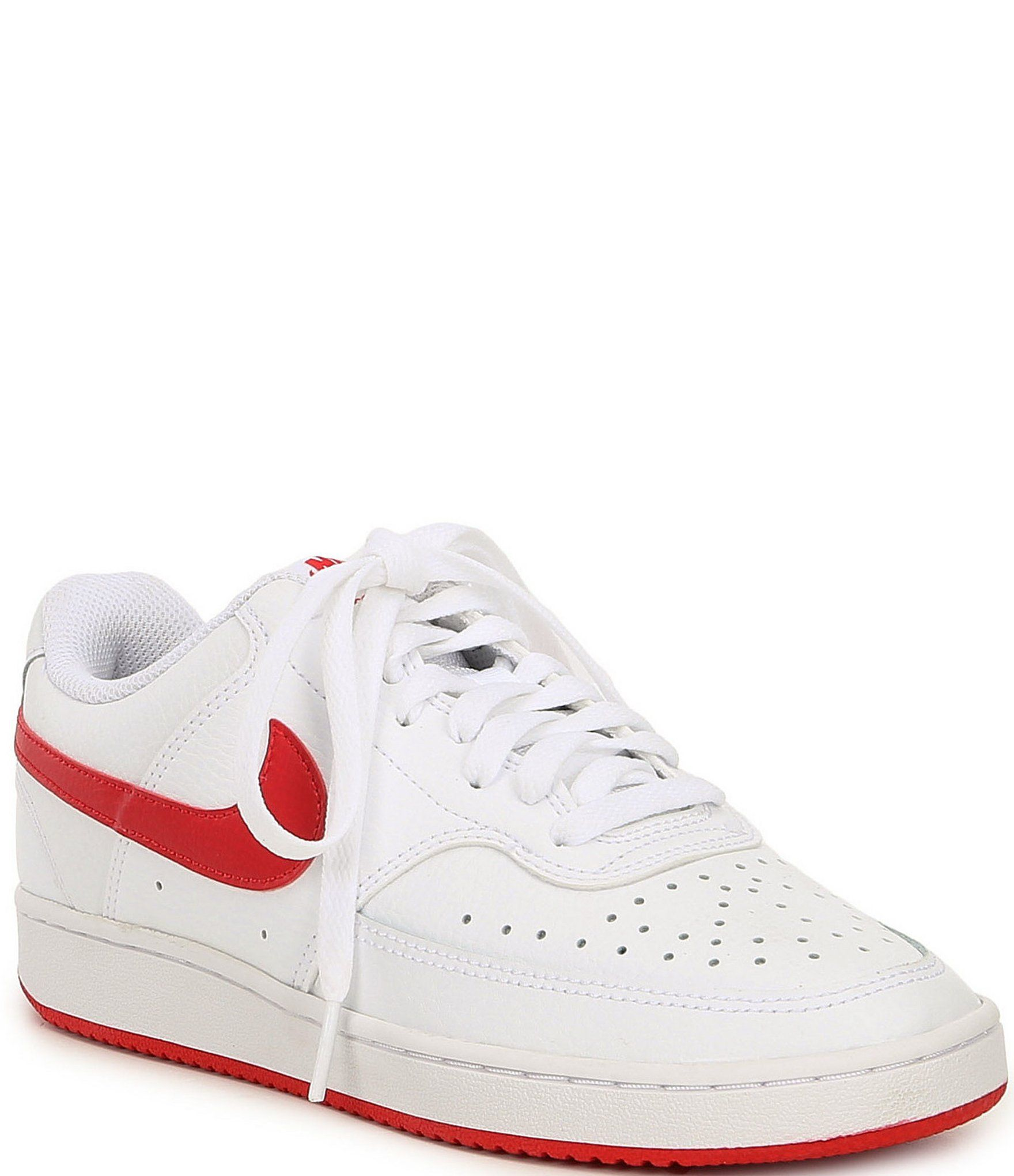 Nike Women's Court Vision Low Lifestyle Shoes WhiteWhite