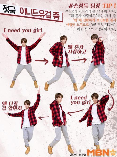 BTS I Need U Dance Tutorial by Jimin, Jungkook and Jhope  | BTS