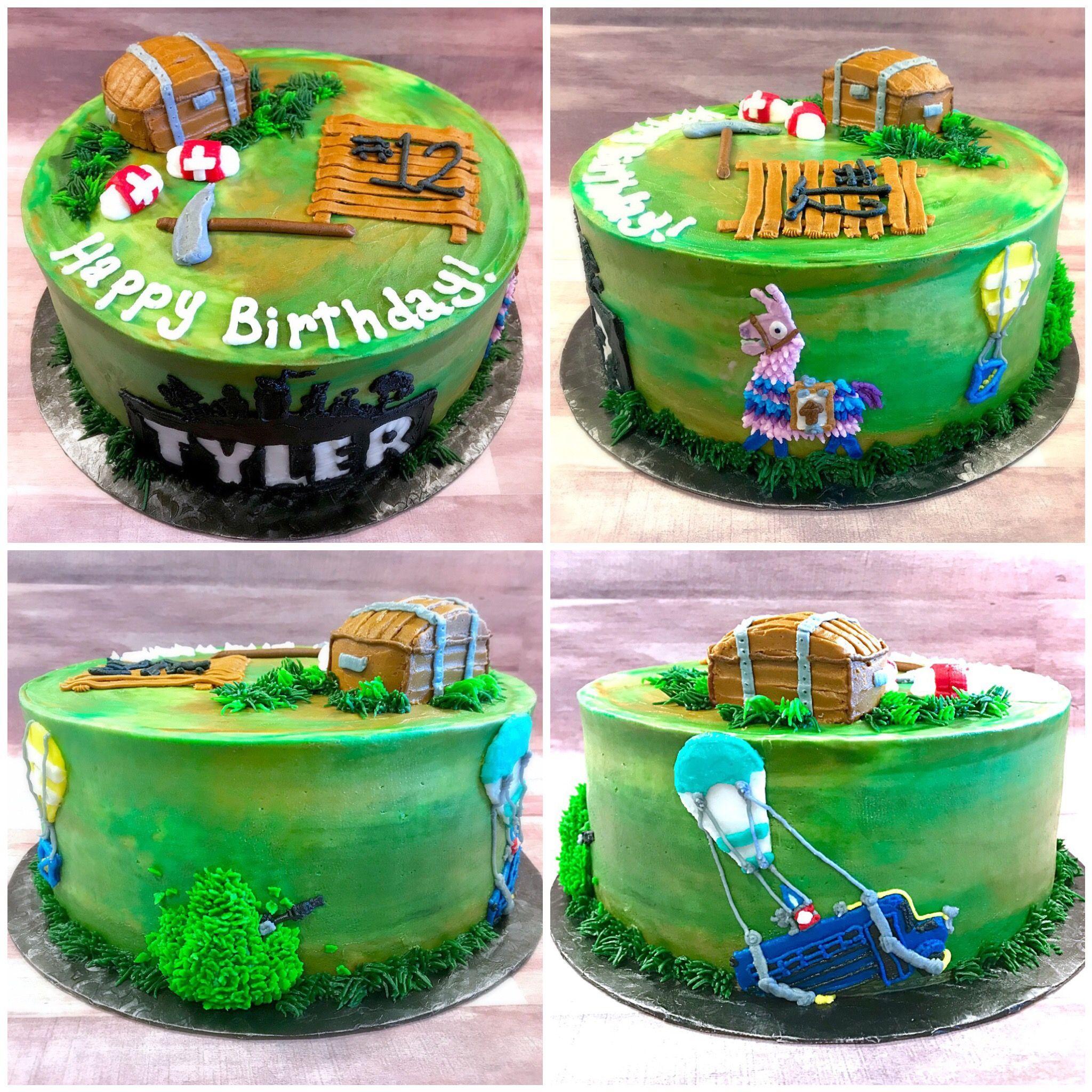 Fortnite Birthday Cake Nikijoycakes Cake Buttercream