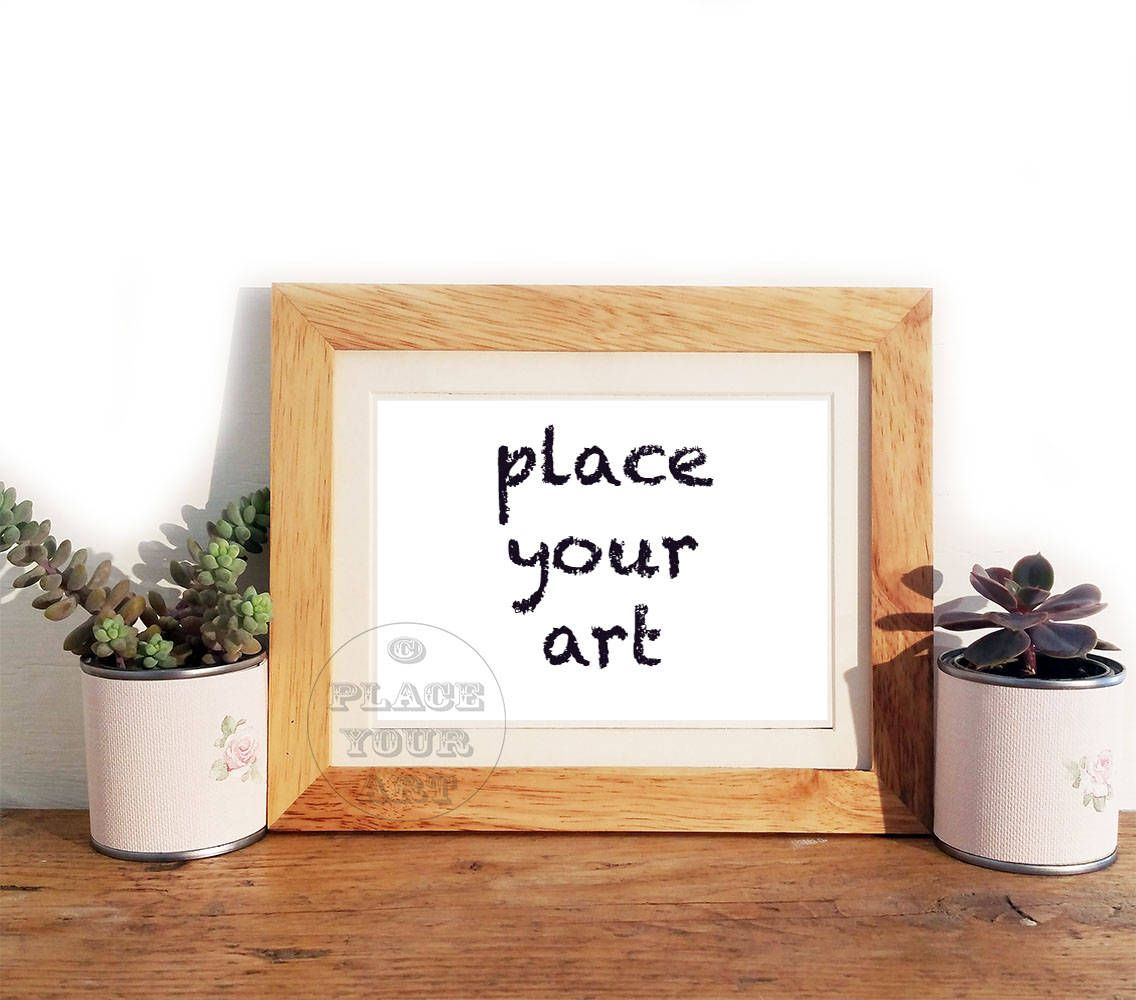 Mockup Wooden Frame With Cactus Wooden Mock Up Frame Landscape Frame Stock Photography Add Your Art Styled Stock Photos Frame Template Wooden Photo Frames