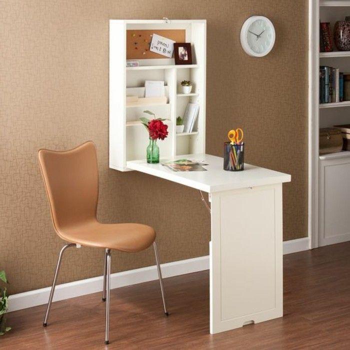 Le Bureau Pliable Est Fait Pour Faciliter Votre Vie Meuble Gain De Place Bureau Petit Espace Astuce Rangement Chambre