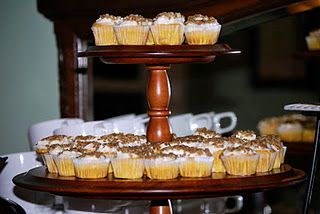 Pumpkin Cupcake Minis topped with Maple Cream Cheese Frosting and Candied Walnuts-My Secret Recipe.
