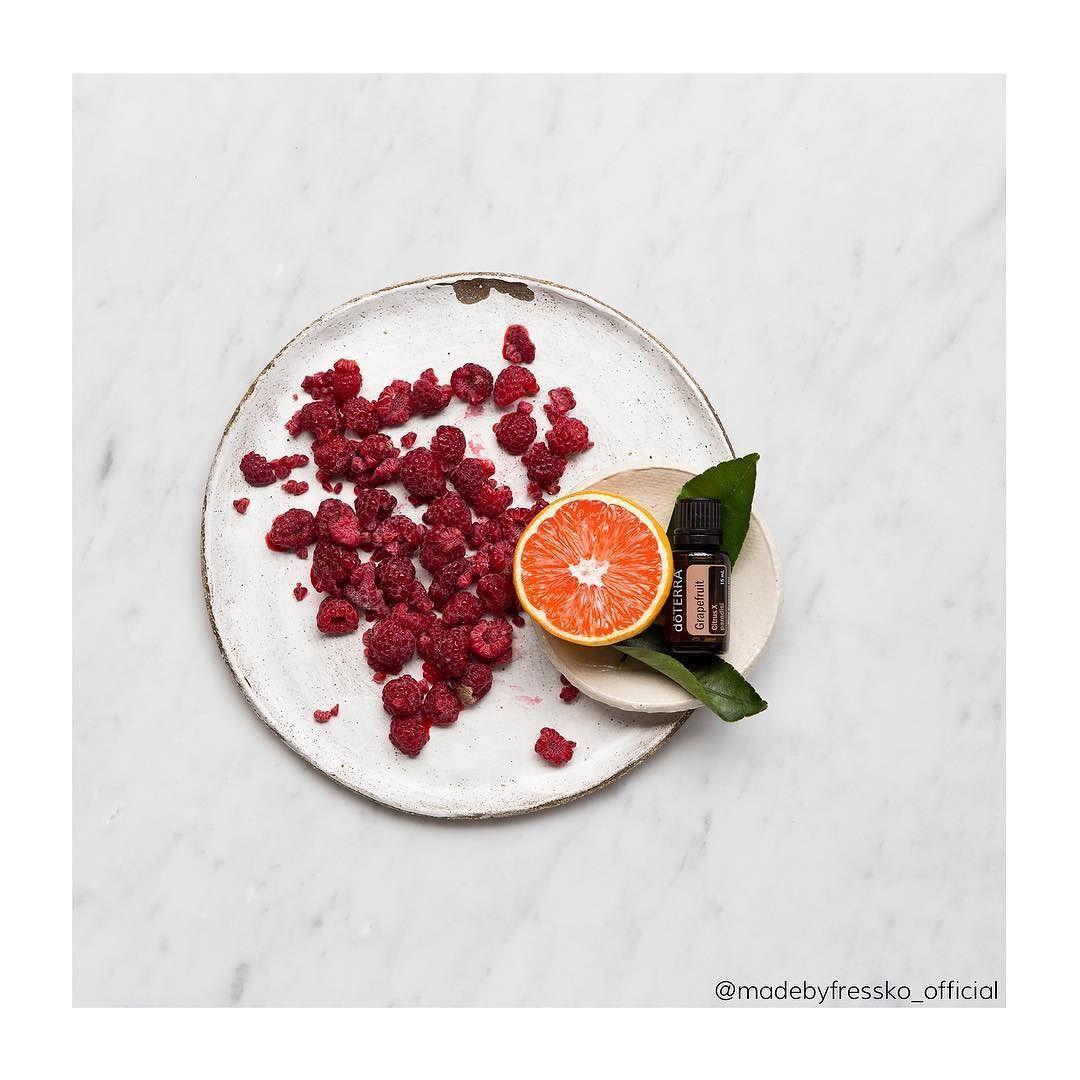 raspberry  doterra oil grapefruit 1/4 cup fresh