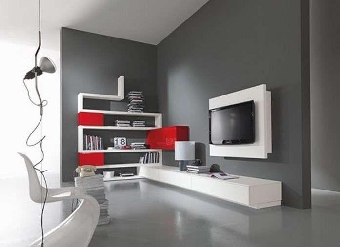 Abbinare pareti e pavimento nel 2019 tv units for Pareti grigie soggiorno