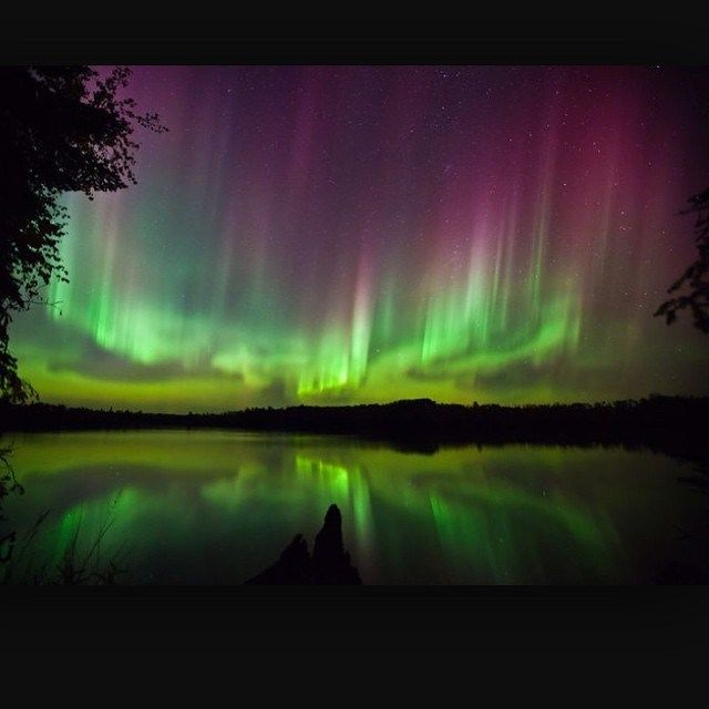Minnesota's skies are dancing tonight! #solarstorms #northernlights