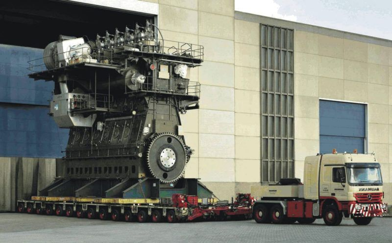 Wartsila-Sulzer RTA96-C diesel engine  This Finnish-built