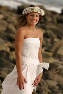 Native Hawaiian Wedding Dress Simple